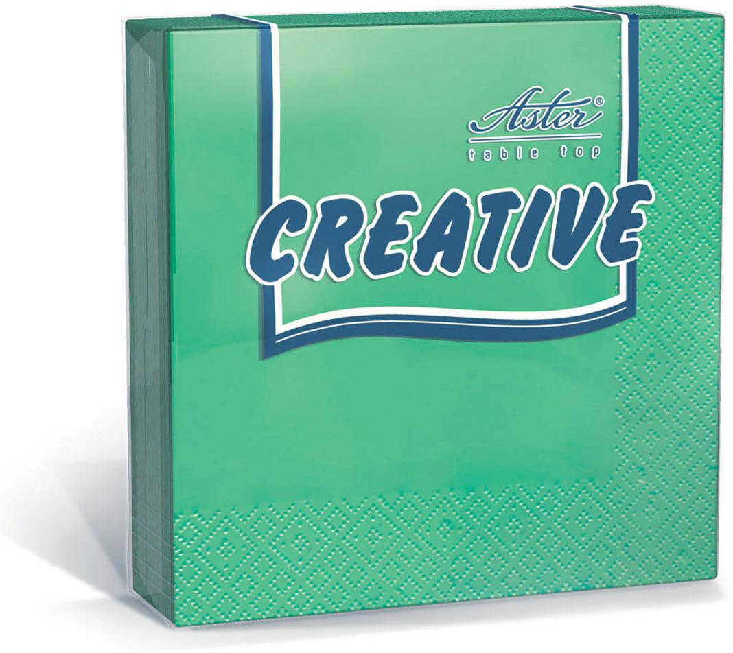 Салфетки бумажные Aster Creative, зеленый, 3-слойные, 36 х 33 см, 20 шт салфетки бумажные duni 125 шт 2 слойные 40 х 40 см цвет красный 180415