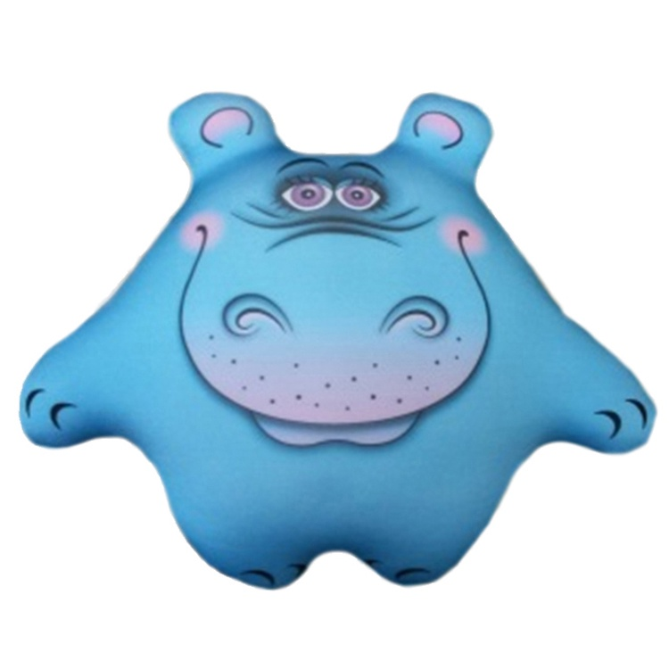 Штучки, к которым тянутся ручки Подушка-игрушка антистрессовая Бегемот Боня цвет голубой
