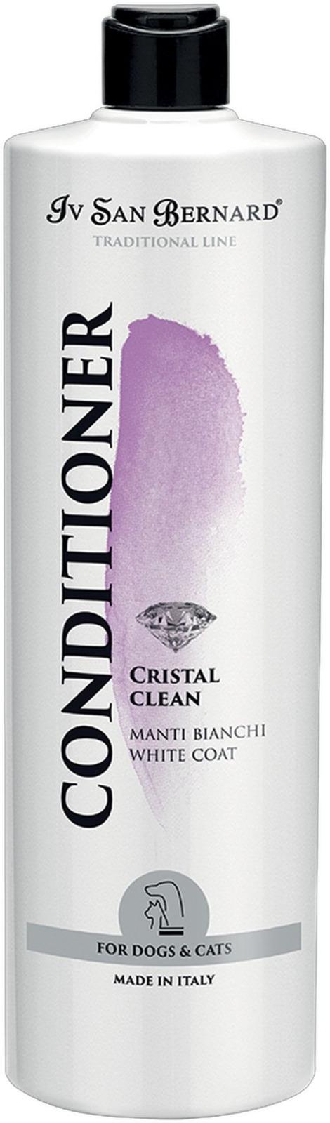 Кондиционер для животных Iv San Bernard ISB Traditional Line Cristal Clean, для устранения желтизны шерсти, 1 л кондиционер для кожи cobra skin clean 0 5 л