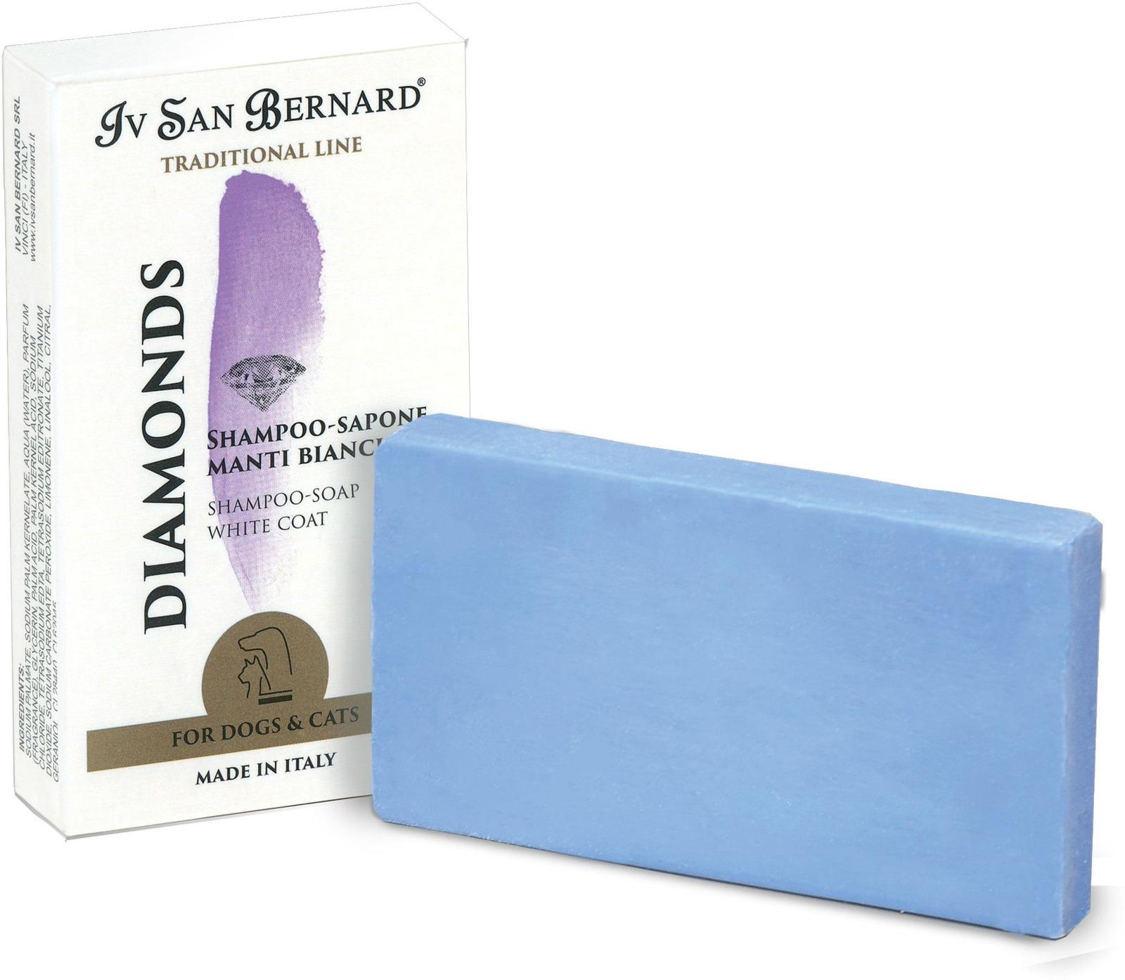 Шампунь-мыло для животных Iv San Bernard ISB Traditional Line Dianonds, для отбеливания и восстановления яркости окраса, 75 г line шампунь