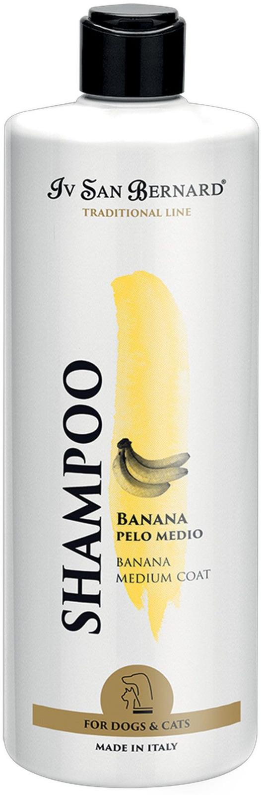 Шампунь для животных Iv San Bernard ISB Traditional Line Banana, для шерсти средней длины, 500 мл line шампунь