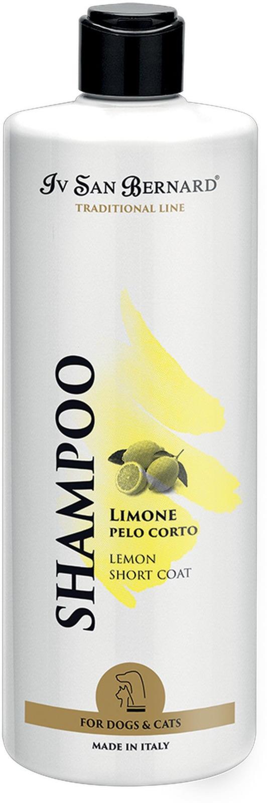 Шампунь для животных Iv San Bernard ISB Traditional Line Lemon, для короткой шерсти, 500 мл line шампунь