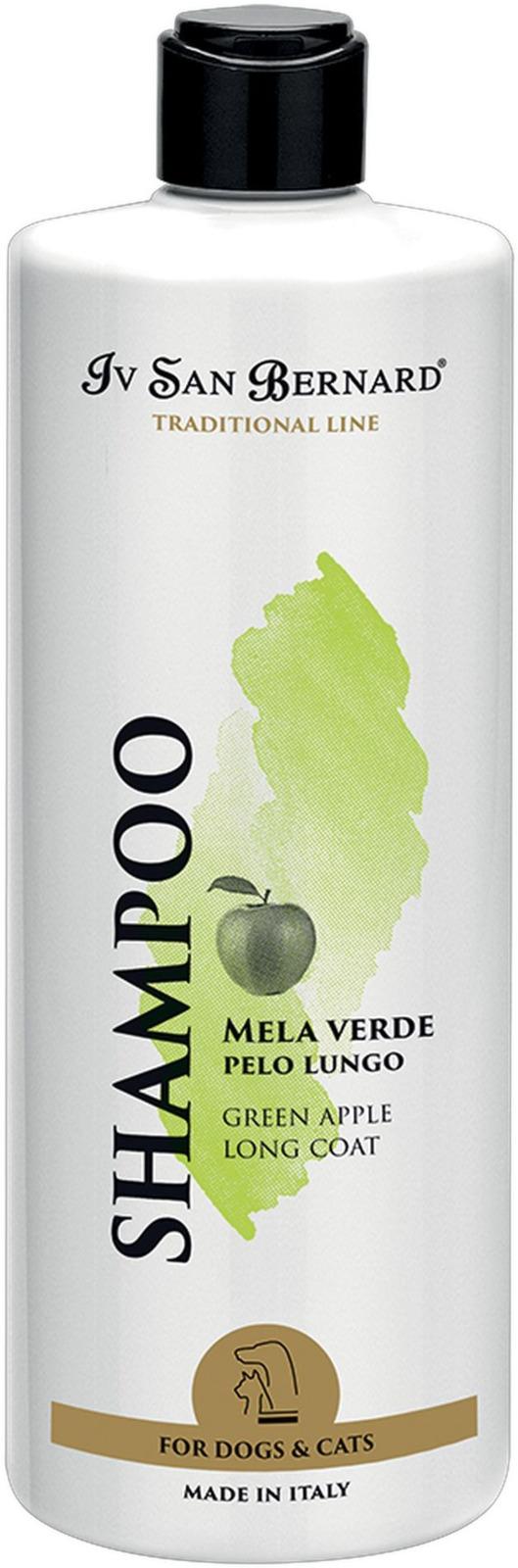 Шампунь для животных Iv San Bernard ISB Traditional Line Green Apple, для длинной шерсти, 500 мл line шампунь
