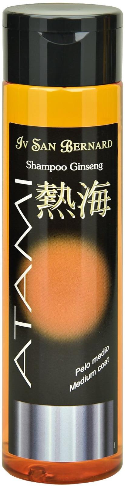 Шампунь-антиоксидант для животных Iv San Bernard ISB Atami Женьшень, для шерсти средней длины и в период линьки, 300 мл кондиционер iv san bernard atami conditioner ginseng medium coat женьшень оживляющий для шерсти средней длины и в перод линьки животных 300 мл