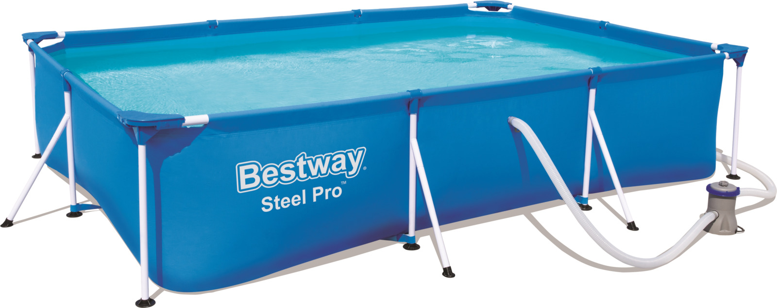 Бассейн каркасный Bestway Steel Pro, 3300 л бассейн каркасный bestway 56100 457х122 см 56438