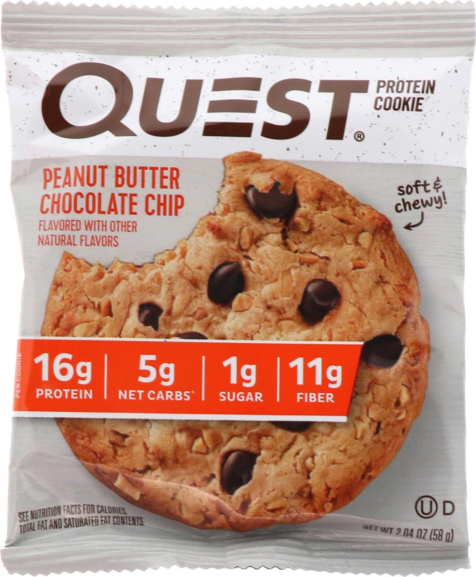 Протеиновое печенье Quest Nutrition Cookie Peanut Butter Chocolate Chip, 58 г
