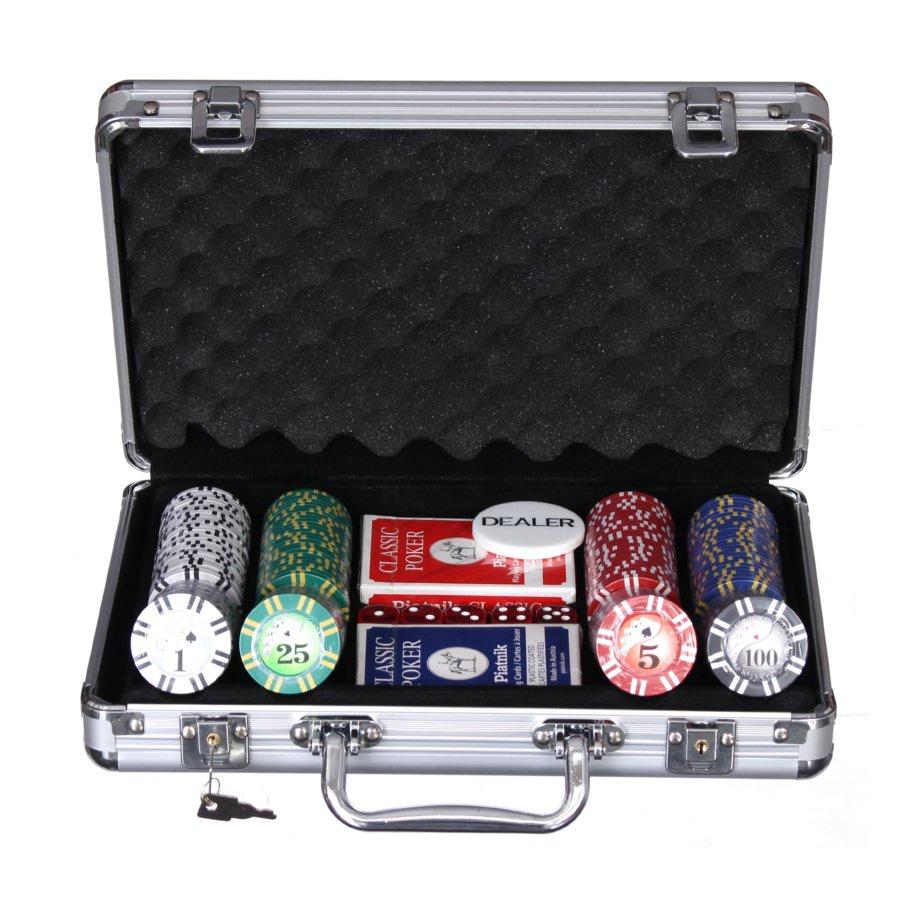 Набор для покера Компания Игра Дипломат для покера Роял Флеш(2х54л.(карты Австрия)+5 игр.кост.+200 ф. по 9г с номин.+ф.дилера) ГД4/200 серебристый флеш карты стоимость