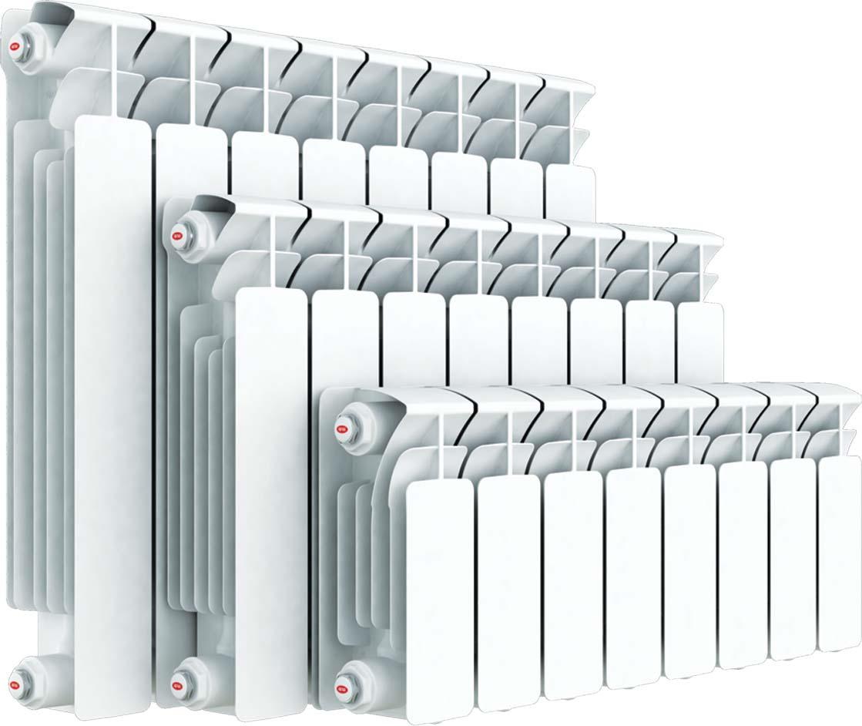Секционный радиатор Rifar Base 500, биметаллический, 51343, белый, 9 секций