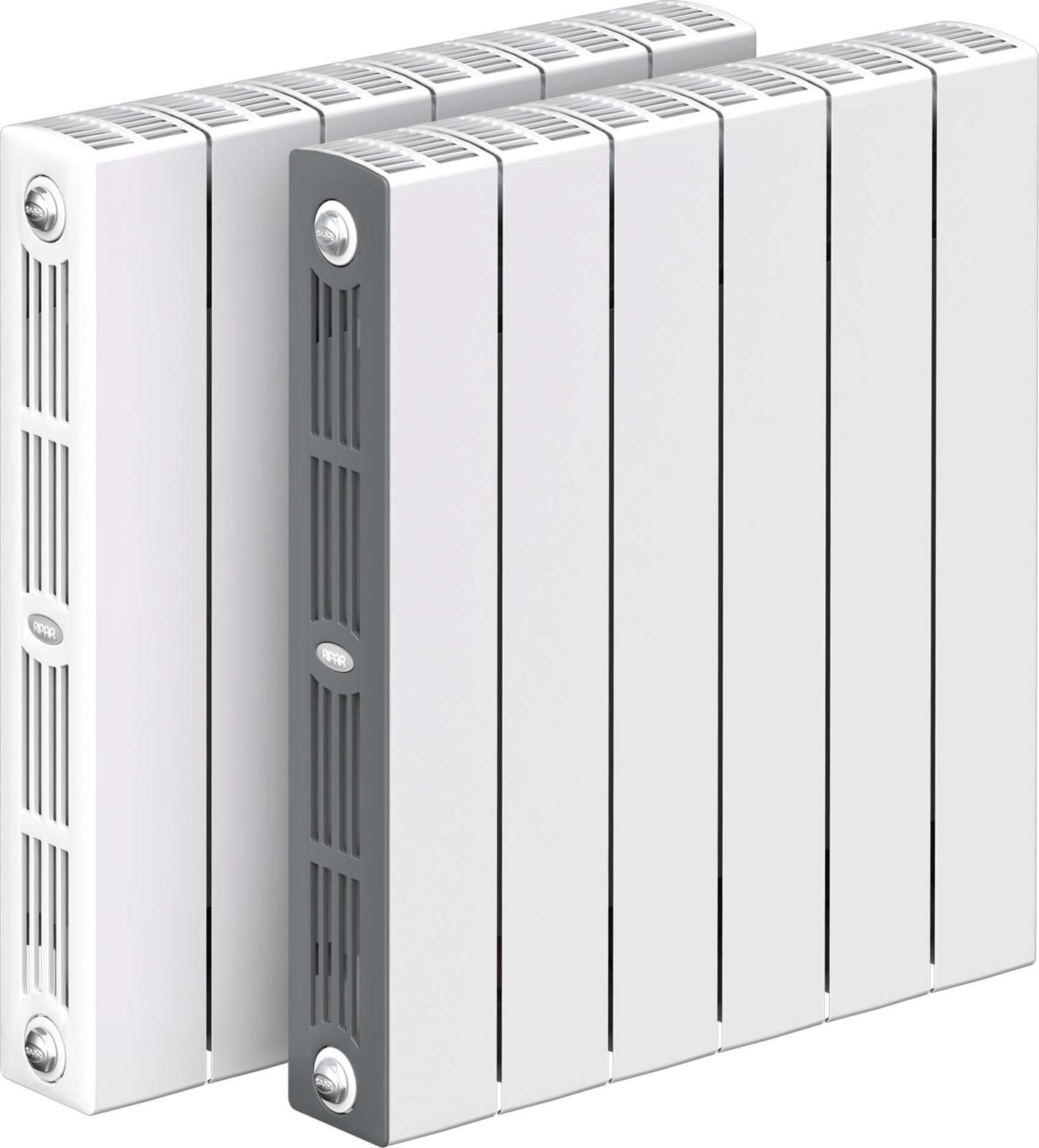 Секционный радиатор Rifar Supremo 500, биметаллический, RIFAR S 500-6, белый, 6 секций радиатор отопления rifar supremo 500 14 секций биметаллический боковое подключение