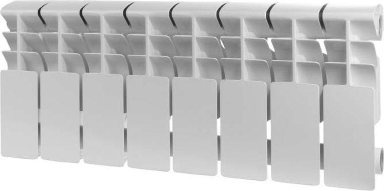 Секционный радиатор Rommer Plus 200, алюминиевый, 89991, белый, 10 секций roda алюминиевый 12 секций gsr 47 35012