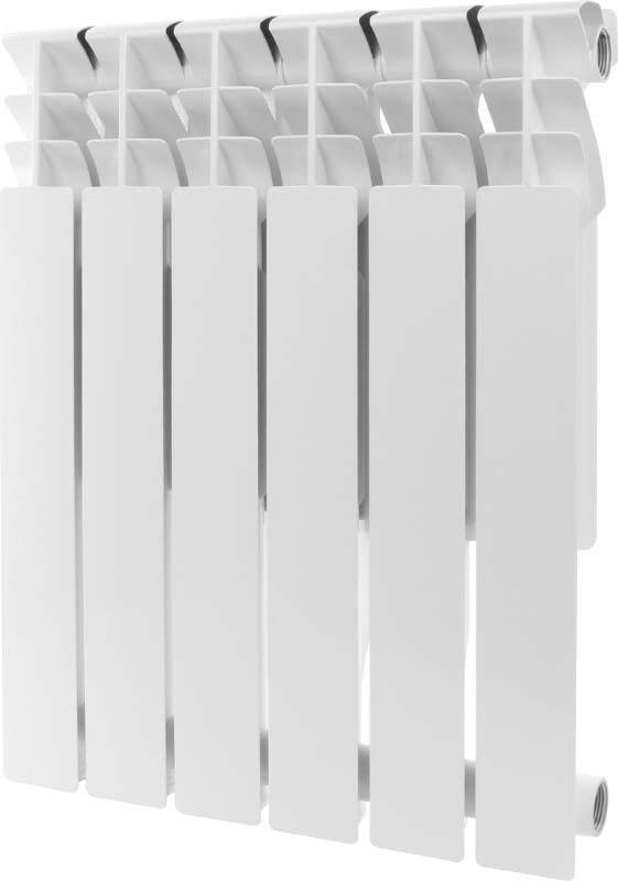 Секционный радиатор Rommer Plus 500, алюминиевый, 89563, белый, 6 секций roda алюминиевый 12 секций gsr 47 35012