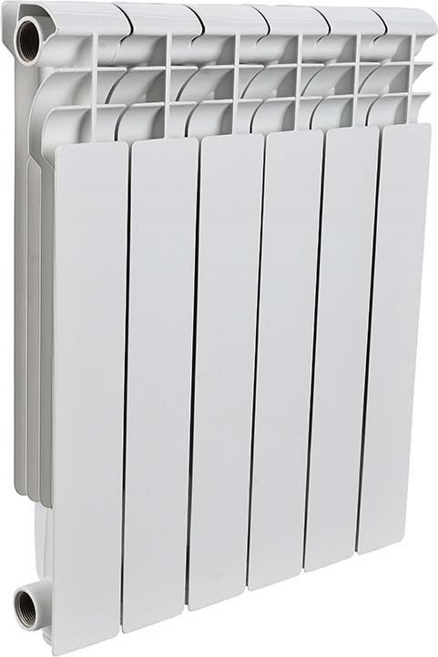 Секционный радиатор Rommer Profi 350, алюминиевый, 86622, белый, 8 секций цена