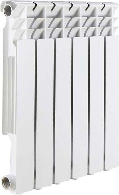 Секционный радиатор Rommer Optima BM 500, биметаллический, 89571, белый, 6 секций радиатор биметаллический oasis 12 секций 500 70