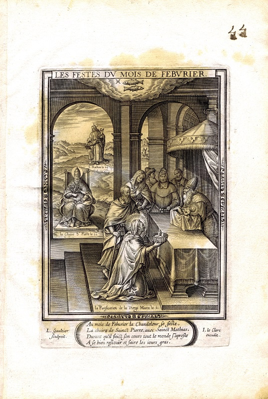 Фото - Гравюра Леонар Готье Февраль. Резцовая гравюра. Франция, Париж, 1603 год jean paul gaultier le male