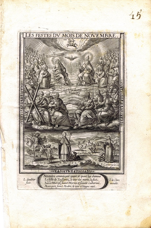 Фото - Гравюра Леонар Готье Ноябрь. Резцовая гравюра. Франция, Париж, 1603 год jean paul gaultier le male