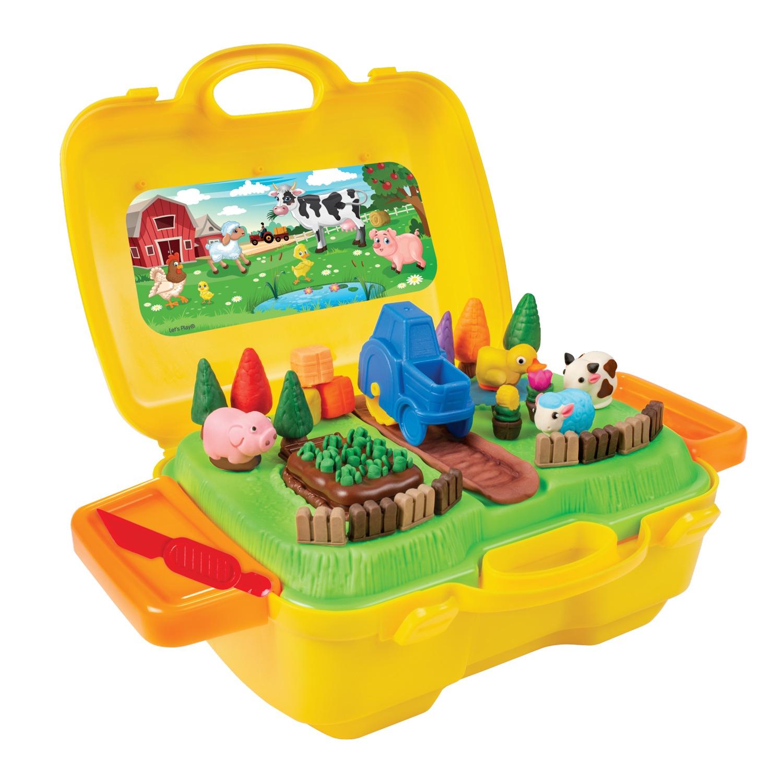 Набор для лепки Let's Play Ферма, кейс 36735