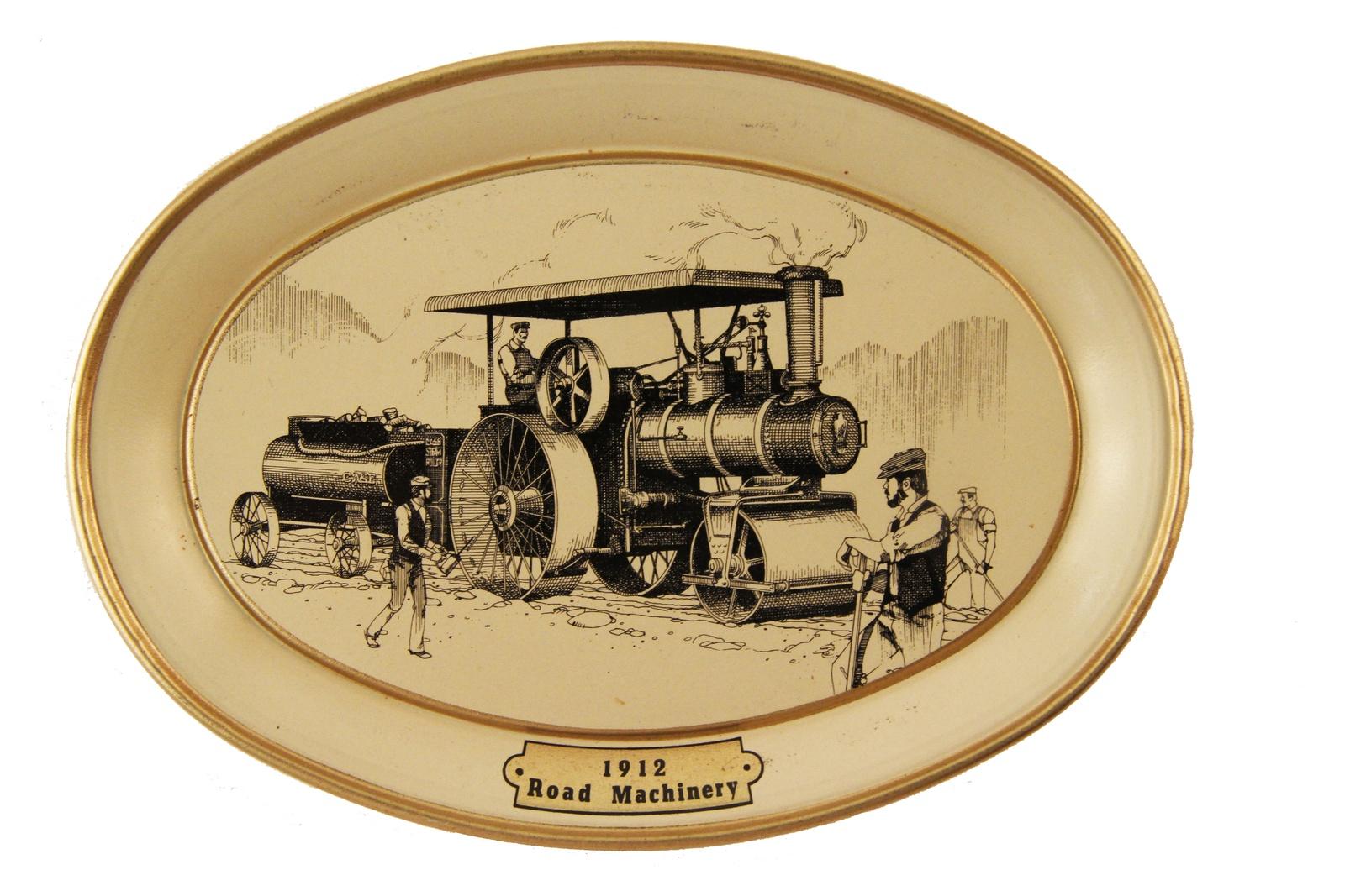 Настенный декор Антик Хобби Дорожная техника.1912 год, бежевый, золотой, черный техника
