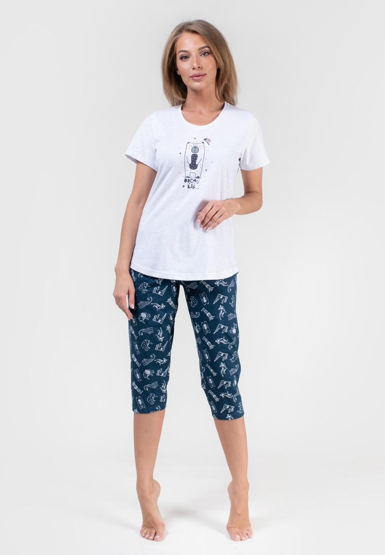 Домашний комплект Vienetta домашний комплект женский vienetta pink ловец снов футболка брюки цвет серый меланж 712305 0000 размер xl 50