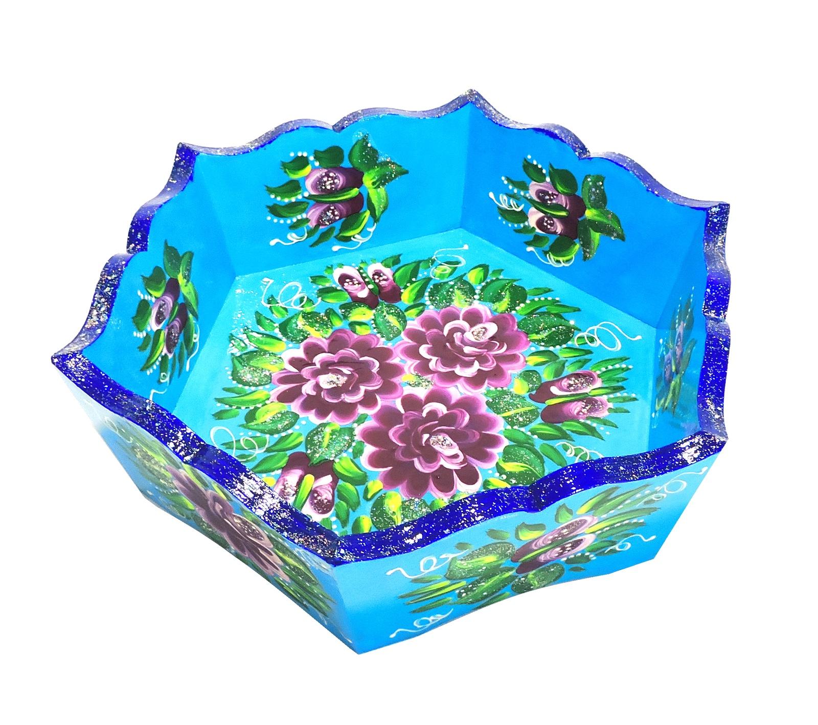 Конфетница Taowa Голубая расписная, голубой