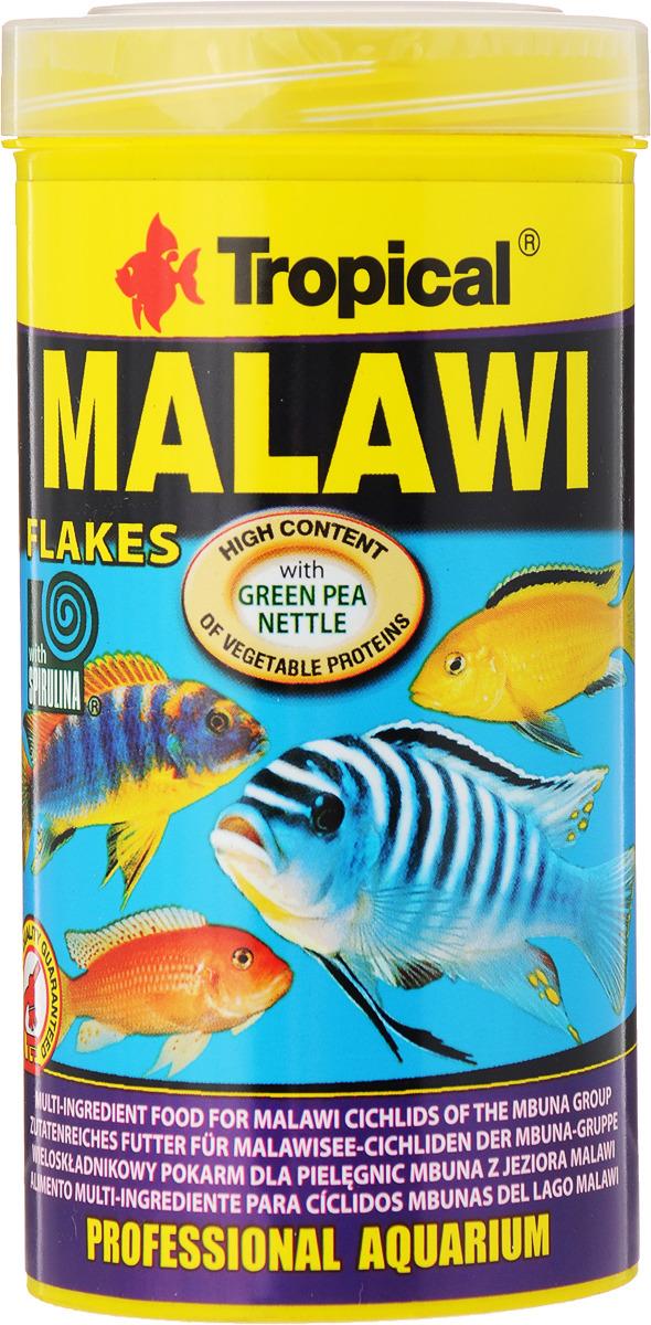 Корм для цихлид Tropical Malawi, многокомпонентный, хлопья, 50 г корм sera granugreen 250ml 09630 для растительноядных цихлид