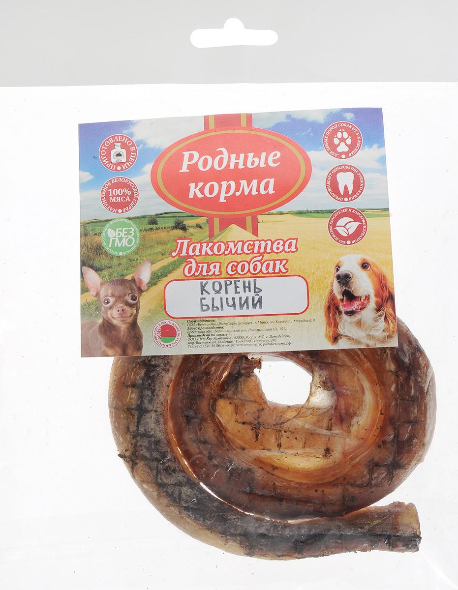 Лакомство Родные Корма Бычий корень, цельный, сушеный в дровяной печи, для собак, 120 г