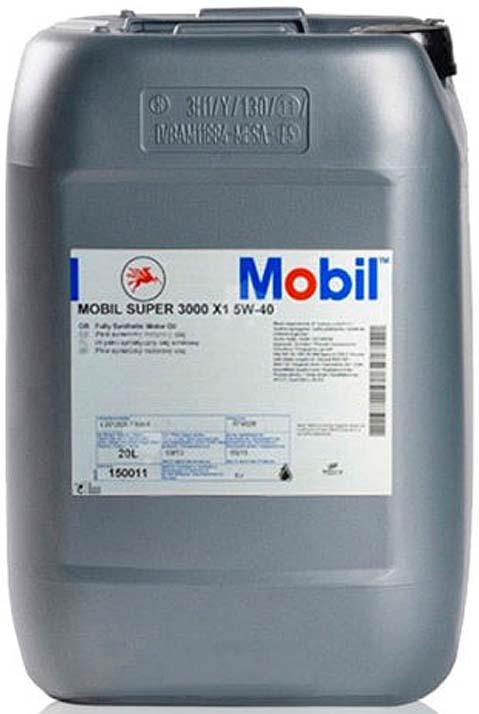 Моторное масло Mobil Super 3000 x1, 150011, синтетическое, 5W-40, 20 л моторное масло mobil super 3000 x1 5w 40 1 л синтетическое