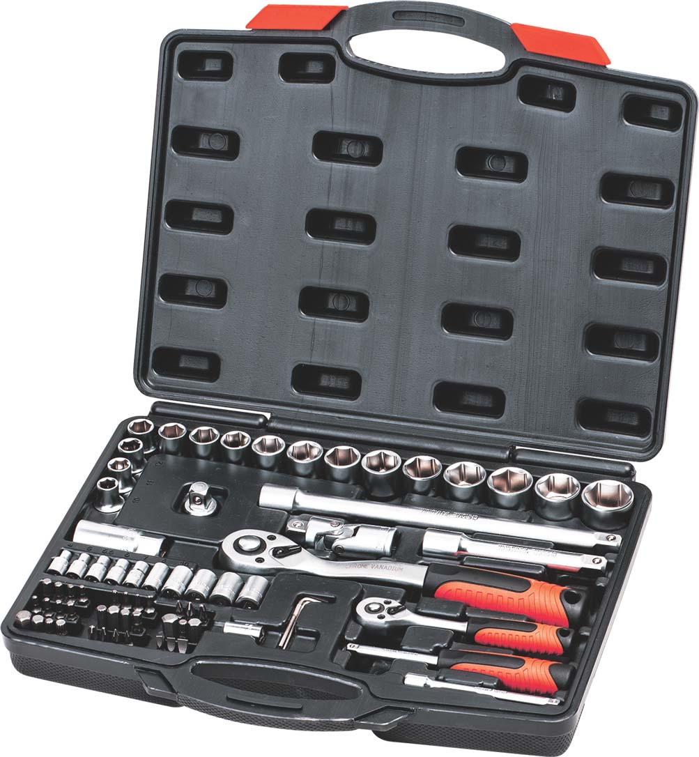 Набор автоинструментов Zipower, PM3977, 72 предмета
