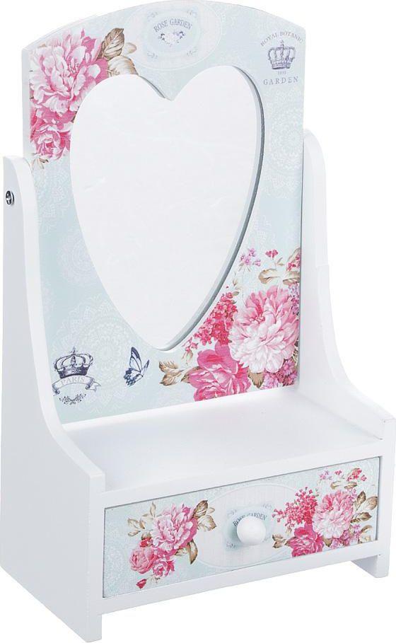 Шкатулка для украшений Розовый сад, 504616, 13,5 х 7 х 22 см