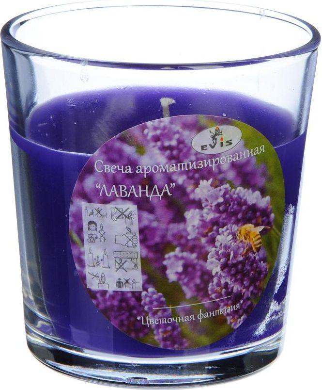 Свеча в стекле Лаванда, 508560, 8,5 х 7,8 см