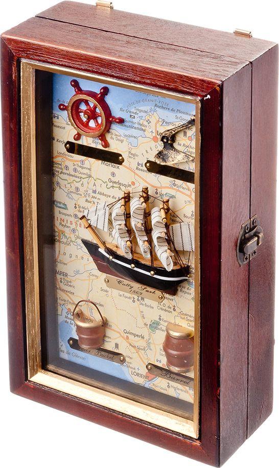 Ключница Корабль, 510072, на 4 крючка, 25 х 15 х 7 см ключница win max ключики 25 х 18 х 6 см