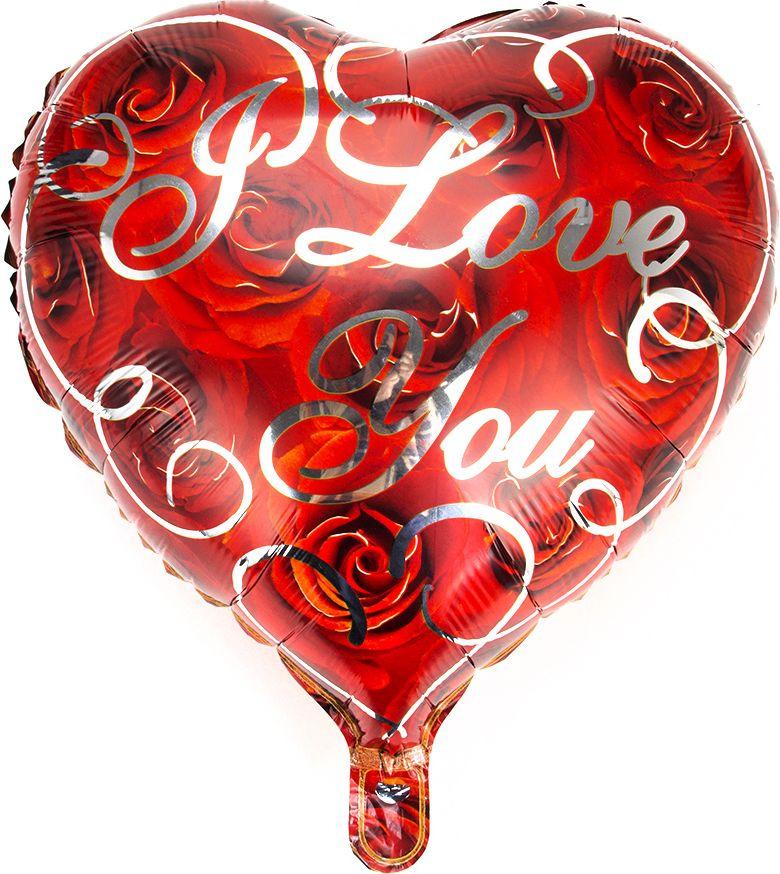 Шар фольгированный Сердце, 518048, 46 х 43 см