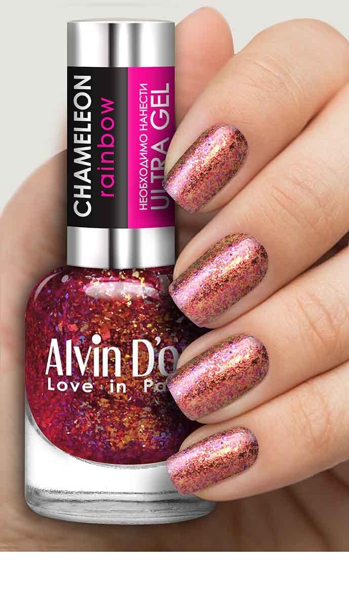 Лак для ногтей Alvin D'or;ALVIN D`OR Chameleon Rainbow тон 6606 лак для ногтей alvin d or alvin d or breath с витамином с тон 5403