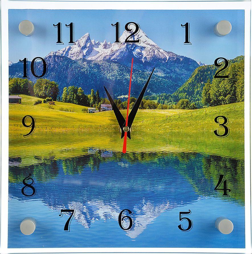 цена Настенные часы Озеро в горах онлайн в 2017 году