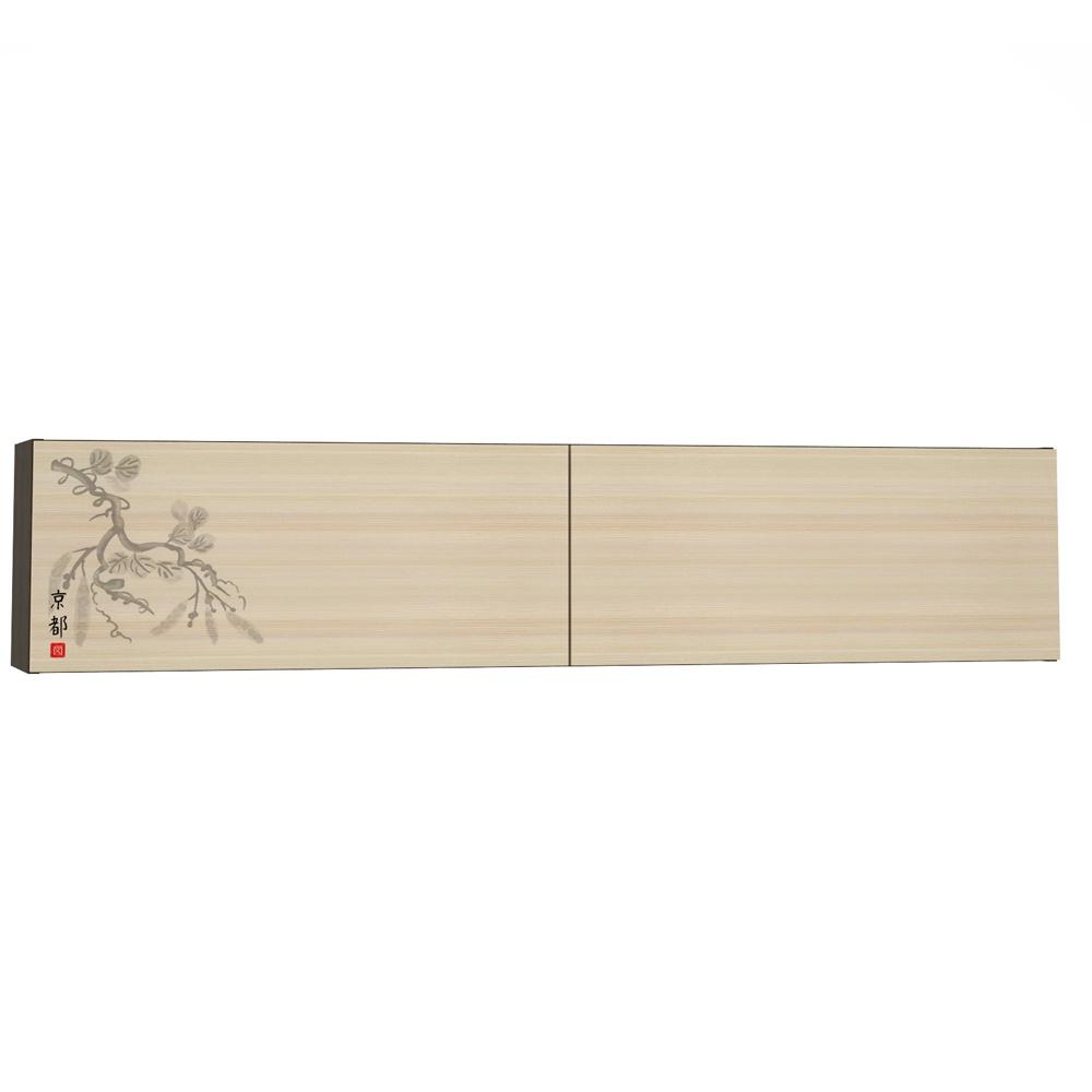 Шкаф Моби навесной Киото-1 902-К-02, цвет венге/дуб (с рисунком)