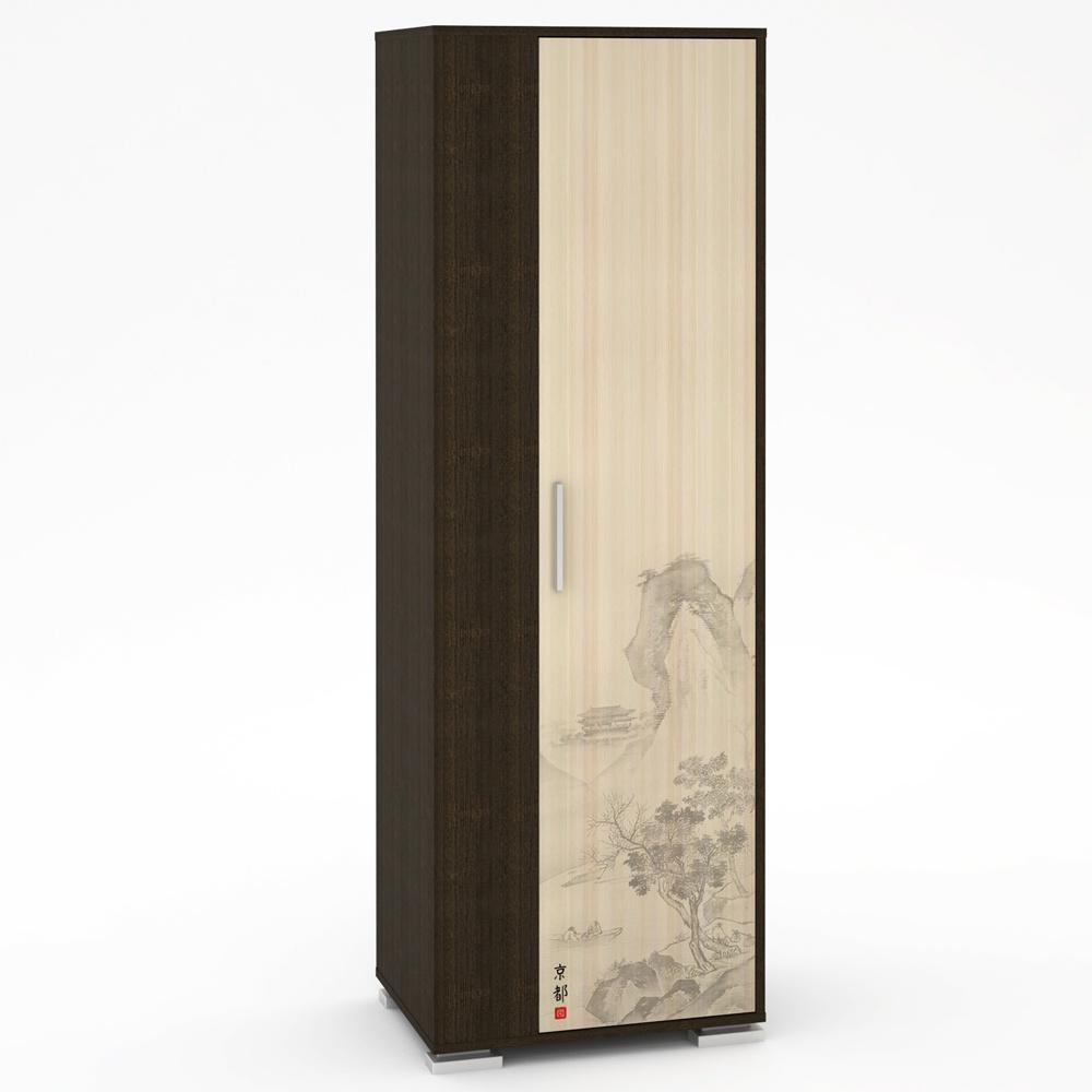 Шкаф Моби Киото-1 912-К-02, цвет венге/дуб (с рисунком)