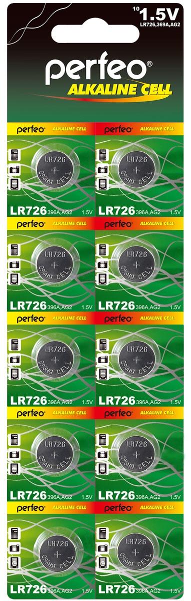 Батарейка Perfeo PF LR726/10BL батарейка perfeo r6 4sh dynamic zinc 4 штуки