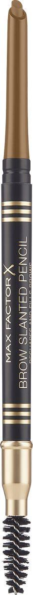 Карандаш для бровей Max Factor Brow Slanted Pencil, с щеточкой, тон 01 blonde max factor карандаш для бровей eyebrow pencil тон 02 hazel цвет светло коричневый