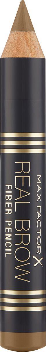 Карандаш для бровей Max Factor Real Brow Fiber Pencil, тон 000 blonde max factor карандаш для бровей eyebrow pencil тон 02 hazel цвет светло коричневый