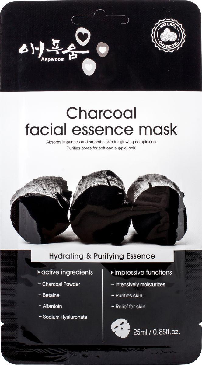 Маска для лица Korea Aepwoom, угольная, 24 мл угольная маска от угрей