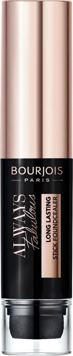 Тональный крем-стик Bourjois Always Fabulous Stick Foundcealer, тон 100 Ivoire Rose, 9 мл bourjois для лица air mat found de teint тон 01 ivoire rose