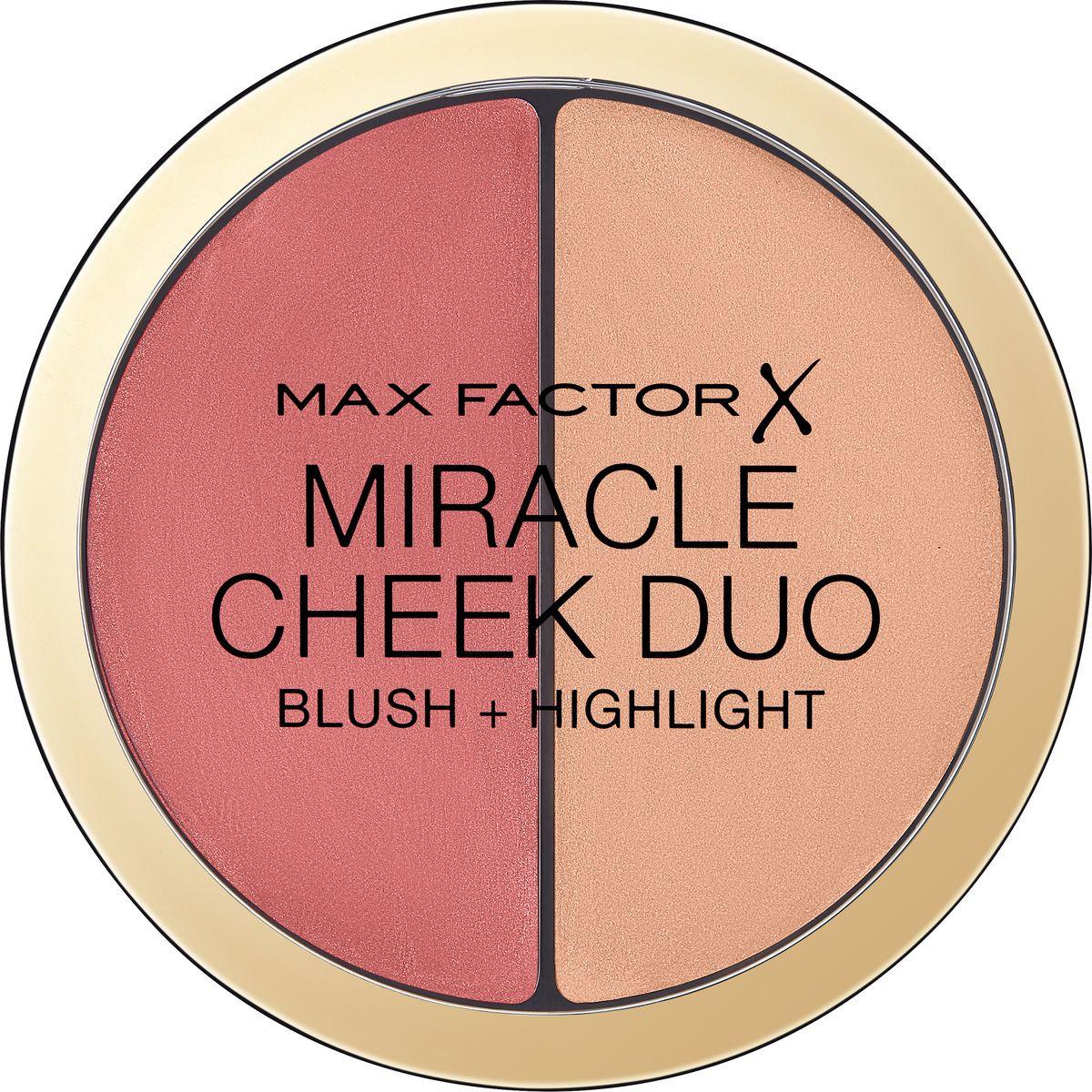 Палетка для контуринга Max Factor Miracle Cheek Duo, тон 20 brown peach & champagne все цены
