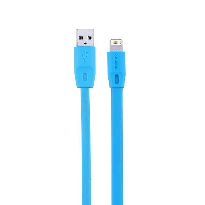Кабель REMAX Quick Charge Cable RC-001i - Lightning, голубой кабели remax cable remax gemini 2 in 1