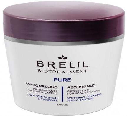 Грязевой пилинг для кожи головы Brelil BioTreatment Pure, 250 мл