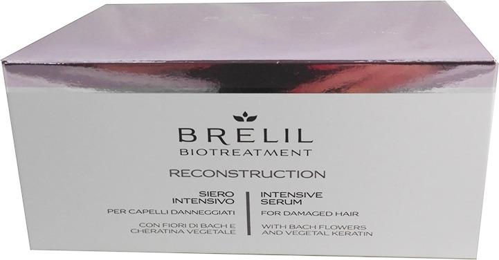 Восстанавливающая сыворотка для волос Brelil BioTreatment Reconstruction, интенсивного действия, 15 мл недорого