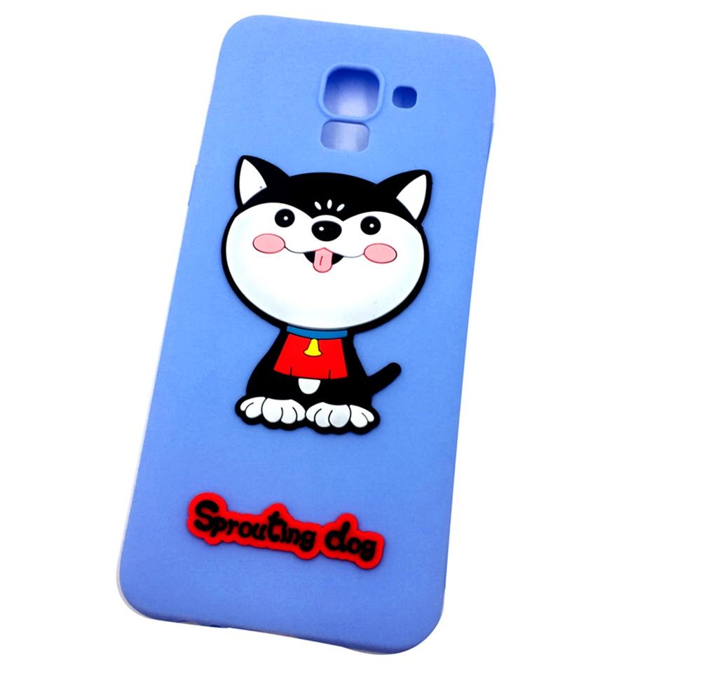 Чехол для сотового телефона Мобильная мода Samsung J6 Накладка резиновая с обьемным рисунком-апликацией