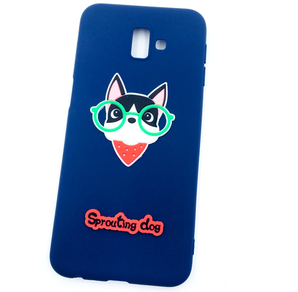Чехол для сотового телефона Мобильная мода Samsung J6 Plus Накладка резиновая с объемным рисунком-аппликацией