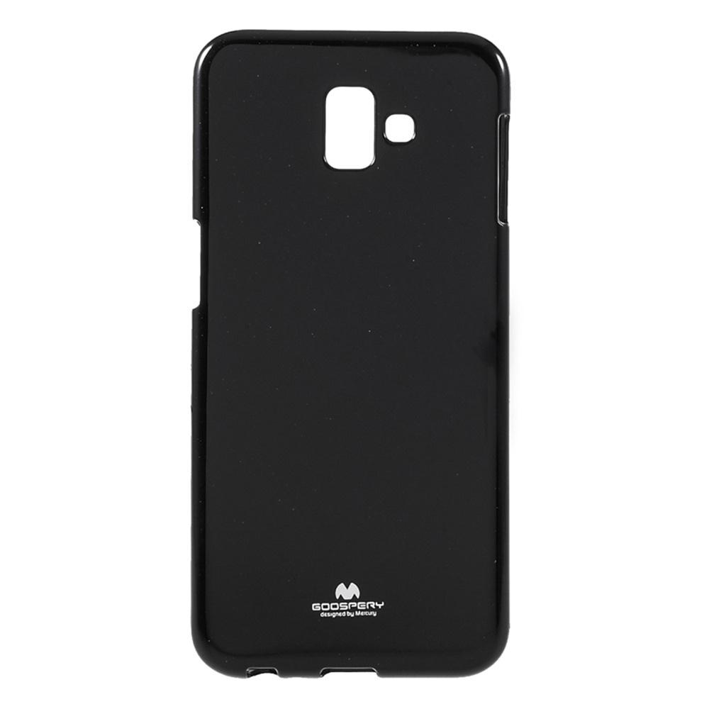 Чехол для сотового телефона Мобильная мода Samsung J6 Plus Накладка силиконовая ламинированная пленкой Jelly Case, черный чехол для сотового телефона мобильная мода samsung grand prime g530 j2 prime накладка силиконовая jelly case