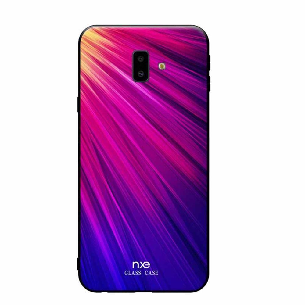 Чехол для сотового телефона Мобильная мода Samsung J6 Plus Накладка силиконовая с декоративным узором NXE, голубой чехол для сотового телефона мобильная мода samsung a8 plus 2018 накладка nxe glittery powder pc tpu красный 1529 красный