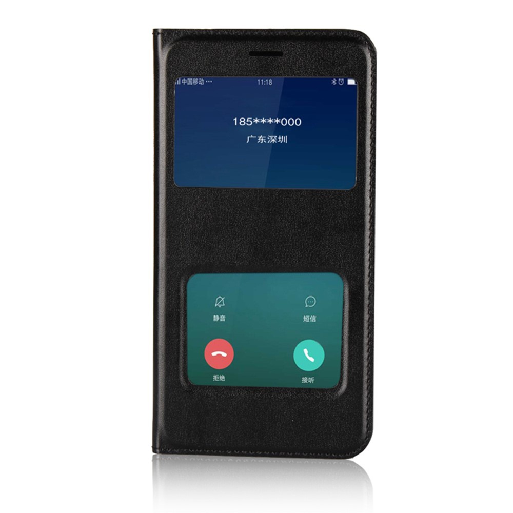 Чехол для сотового телефона Мобильная мода Xiaomi Redmi 5A Чехол-книжка пластиковая с интерактивными окнами, черный