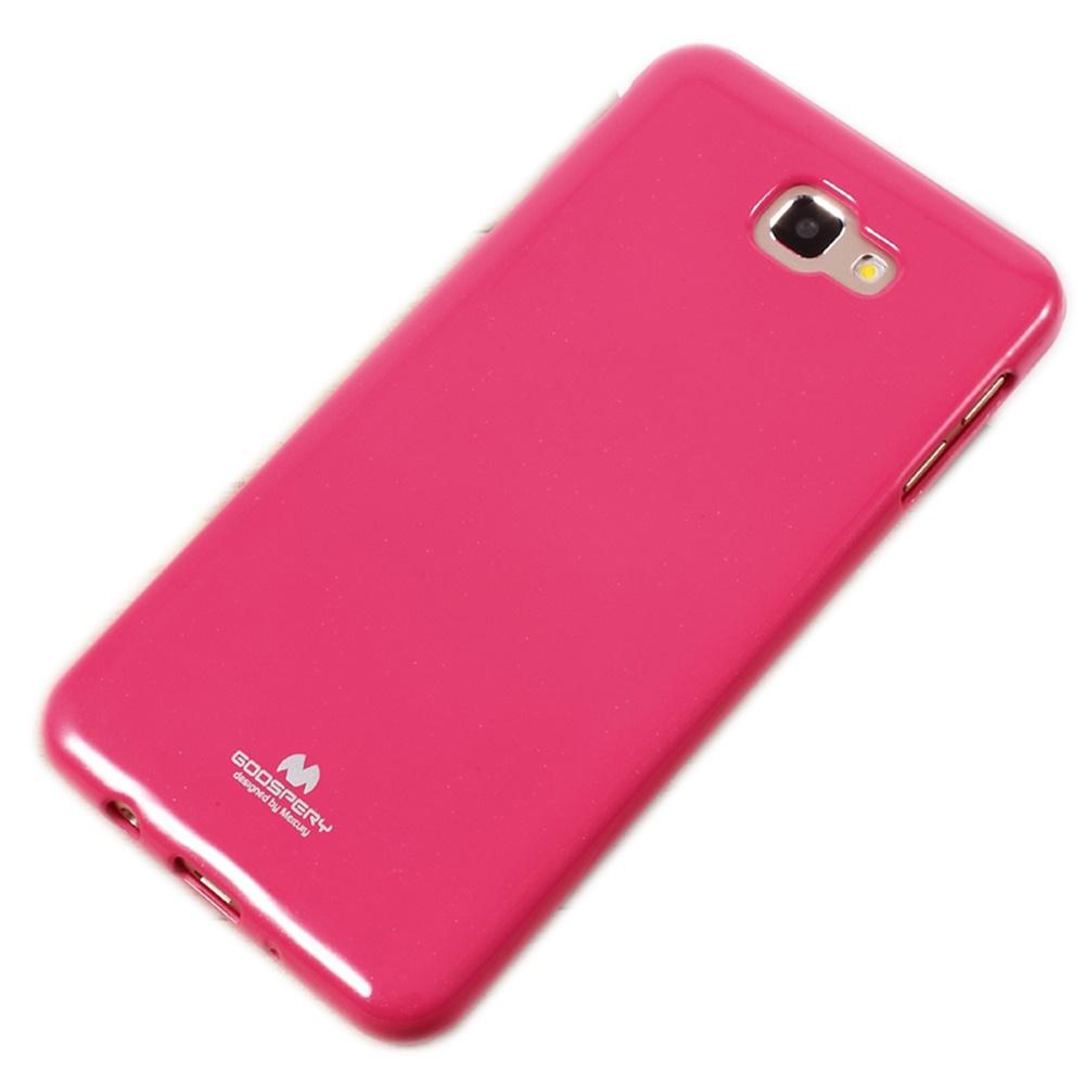 Чехол для сотового телефона Goospery Samsung J7 Prime Накладка силиконовая ламинированная пленкой MERCURY Jelly Case, розовый чехол для сотового телефона samsung galaxy j7 2017 jelly pink ef aj730tpegru